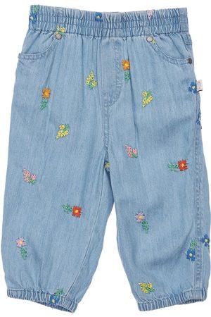 Stella McCartney Damen Jeans - Jeans Aus Lyocelldenim Mit Stickerei