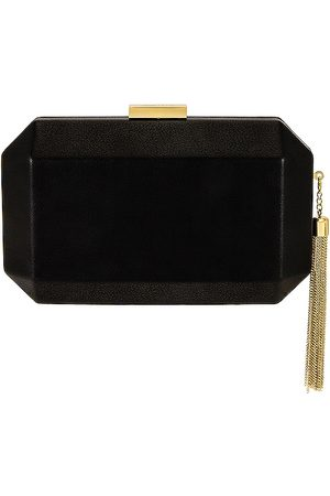 Olga Berg Lia Facetted Clutch With Tassel in - . Size all.