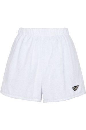 Prada Shorts aus Baumwoll-Frottee