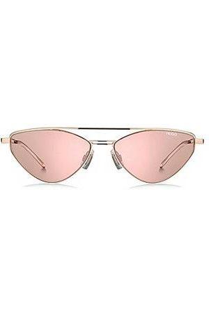 HUGO BOSS Herren Sonnenbrillen - Sonnenbrille mit violetten Gläsern und Aussparungen an den Bügeln