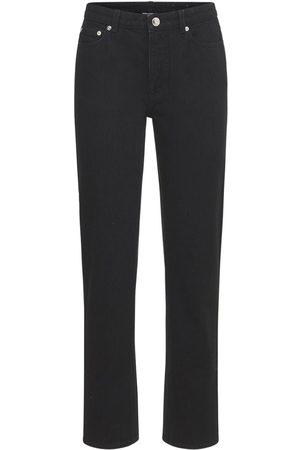 Burberry Feela Cotton Denim Straight Jeans