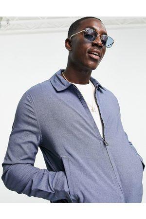 ASOS Co-ord smart harrington jacket in denim blue