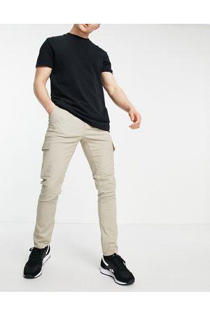 ASOS Herren Cargohosen - Skinny cargo trousers in -Neutral