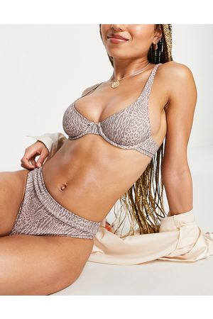 Rhythm Tigeria Xanadu bikini bottom in tiger print-Multi