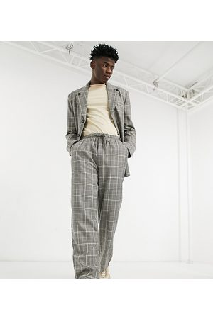 Reclaimed Inspired trouser in check-Grey