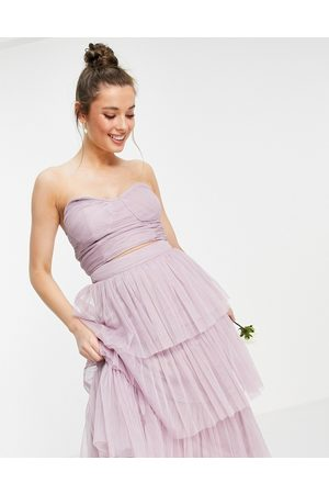 ANAYA Damen Tops & Shirts - With Love strapless corset top in lilac co-ord-Purple