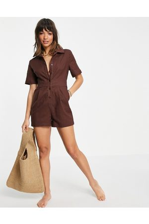 4th & Reckless Beach playsuit in chocolate-Brown