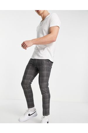 River Island Tapered smart trousers in grey check