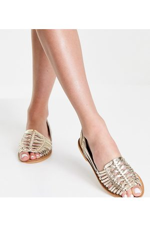ASOS Wide Fit Florentine woven leather sandals in