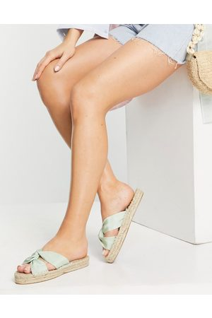 ASOS Jolly knotted mule espadrille in green