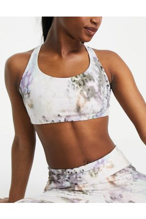 Onzie Animal Quartz medium support cross back sports bra-Multi