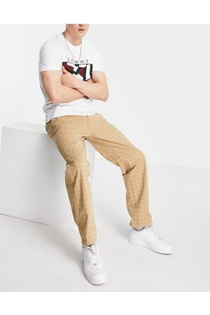 Tommy Hilfiger Skater straight fit tonal houndstooth print trousers in khaki -Neutral