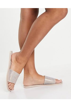 SIMMI Shoes Damen Clogs & Pantoletten - Simmi London Journi jewelled jelly slides in blush-Pink