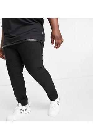 Only & Sons Plus drawcord cuffed trousers in black