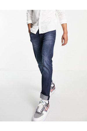 Only & Sons Skinny fit jeans with rip & repair in bluewash