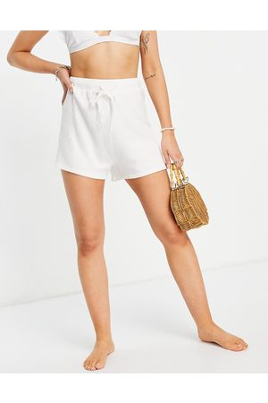 Rhythm Josie knitted beach co-ord shorts in white