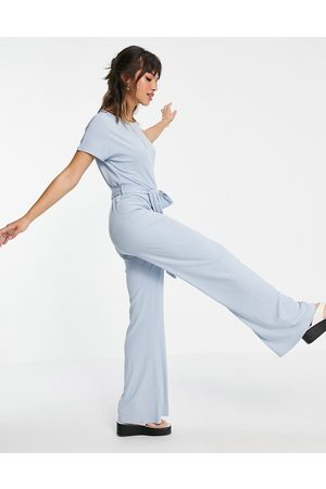 Pretty Lavish Damen Jumpsuits - Claudia tie waist jumpsuit in baby blue