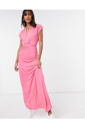 French Connection Meadow v neck maxi dress in pink