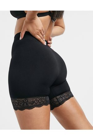 ASOS Seamless shaping smoothing lace short in black-Neutral