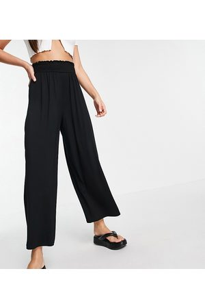 ASOS Damen Leggings & Treggings - ASOS DESIGN Tall culotte trouser with shirred waist in black