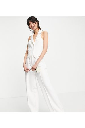 Y.A.S Exclusive Bridal tailored waistcoat co-ord in white