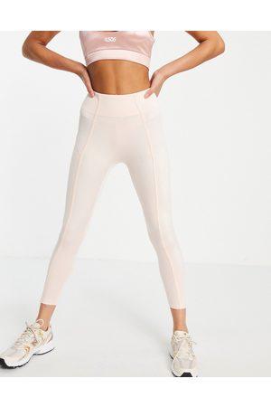 PUMA Studio 7/8 leggings with rib side detail in pink
