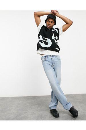 ASOS Herren Straight - Straight leg jeans in vintage light wash-Blue
