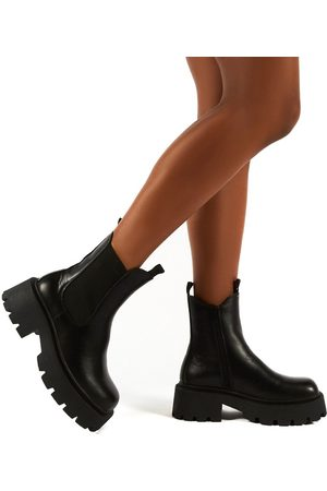 Public Desire Innovator chunky chelsea boots in black