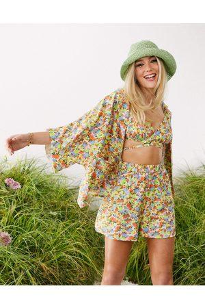 ASOS Damen Blazer & Sakkos - Floral Printed Pyjama Suit Jacket-Multi