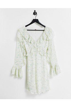 Free People Damen Freizeitkleider - Sweetest Thing floral mini dress in cream multi-White