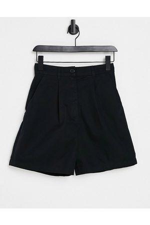 Monki Nimmi tailored shorts in black