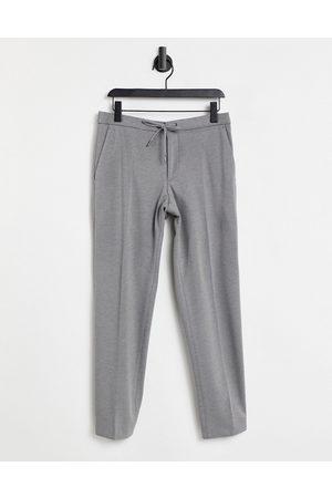 HUGO BOSS Herren Chinos - Business Banks elasticated waist trousers-Grey