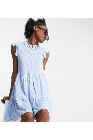Stradivarius Sleeveless dress in blue floral