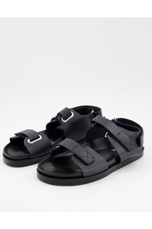 Kaltur Damen Sandalen - Dad sandal in black leather