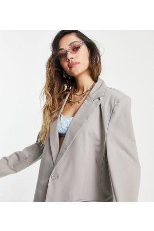 COLLUSION Ultimate oversized blazer in stone-Grey