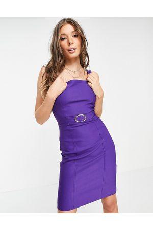 Morgan Damen Midikleider - Belted midi dress in purple