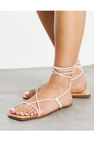 ASOS Fresh strappy sandals in white