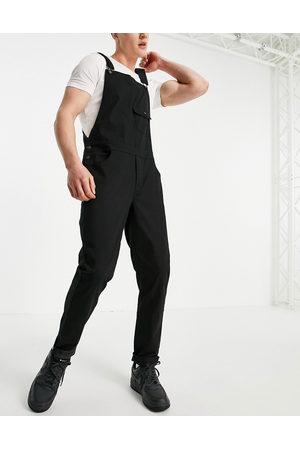 ASOS Skinny dungarees in black