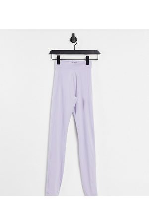 ASOS Tall yoga legging with wrap leg detail-Purple