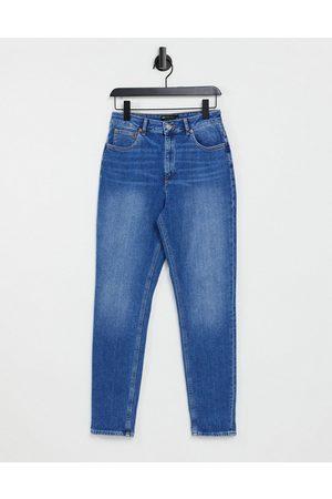ASOS Damen Baggy & Boyfriend - Hourglass high rise farleigh 'slim' mom jeans in midwash-Blue