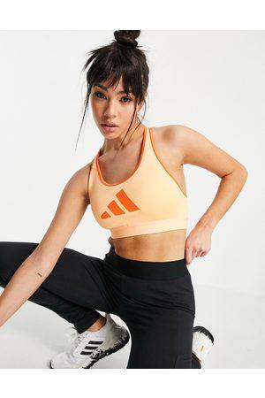 adidas Adidas Training mid support bra in