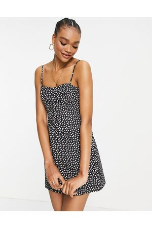 French Connection Mini dress in black ditsy print