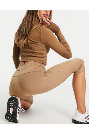 ASOS 4505 Capri legging with detachable bag-Brown