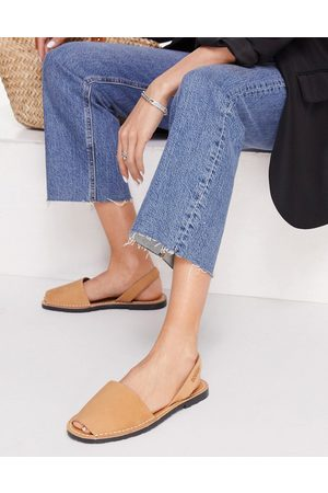 Solillas Menorcan sandals in tan leather-Brown