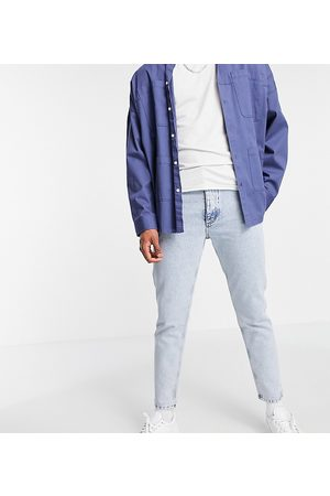 COLLUSION X003 tapered jeans in light wash blue