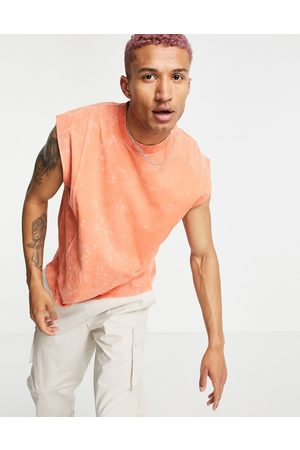 ASOS Oversized vest in acid wash with seam detail