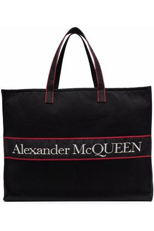 Alexander McQueen Logo-jacquard canvas tote bag