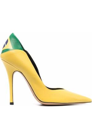 ALEKSANDER SIRADEKIAN Brasil Flag pointed-toe pumps
