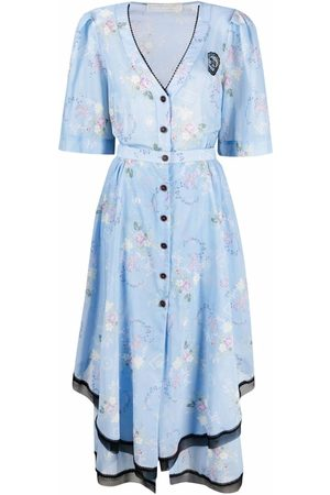 ULYANA SERGEENKO Floral-print shirt dress