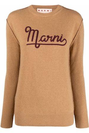 Marni Logo-print knitted jumper
